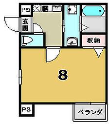 京都府京都市上京区今図子町の賃貸マンションの間取り