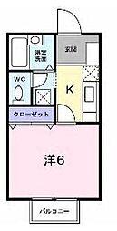 香川県坂出市元町4丁目の賃貸アパートの間取り