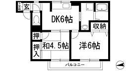 リューカシェ[1階]の間取り
