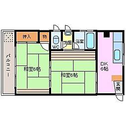 たもつ荘[3-3号室]の間取り