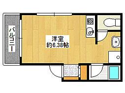 阪神本線 住吉駅 徒歩3分の賃貸アパート 2階ワンルームの間取り