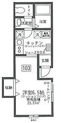 東京都世田谷区祖師谷6丁目の賃貸アパートの間取り