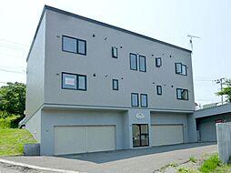 北海道小樽市若竹町の賃貸アパートの外観
