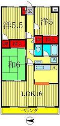 第2エスポワール[3階]の間取り