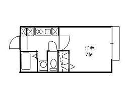セジュール[2階号室]の間取り