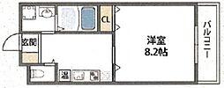 クィーンライフ勝山北[5階]の間取り