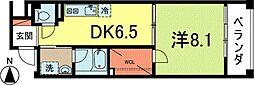コントラーダ・ウノ[4階]の間取り