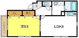 片岡マンション5[3階]の間取り
