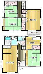 [一戸建] 神奈川県茅ヶ崎市甘沼 の賃貸【/】の間取り