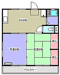 もみぢハウス[203号室]の間取り