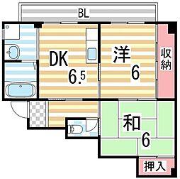 メゾンかわむら[3階]の間取り