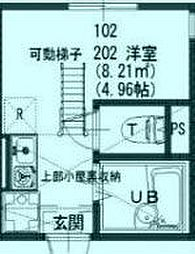 プライムテラス登戸 A棟 1階ワンルームの間取り