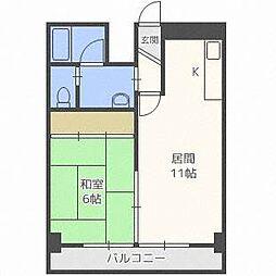 第8松井ビル[4階]の間取り