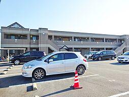 福岡県八女市蒲原の賃貸アパートの外観