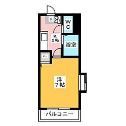 エヴァグリーン箱崎[2階]の間取り
