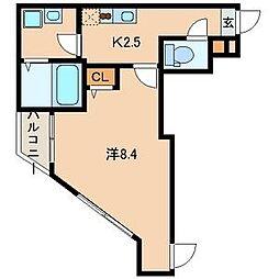 神奈川県横須賀市三春町2丁目の賃貸アパートの間取り