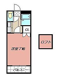 シルクハイツ(八幡西区)[203号室]の間取り