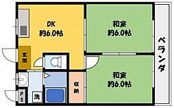 MIWA第3ビル[5階]の間取り