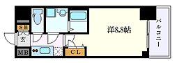 名古屋市営東山線 新栄町駅 徒歩1分の賃貸マンション 2階1Kの間取り