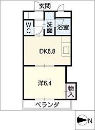 ディアコートミロII[2階]の間取り