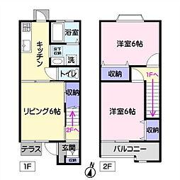 サンライズ子ノ神A[2階]の間取り