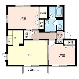 ベイサイド海楽B[1階]の間取り