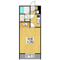 コゥジィー・コート[2階]の間取り
