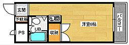 プラスパー東雲[1105号室]の間取り