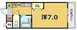 スターボード28[105号室]の間取り