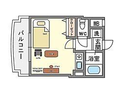 家具・家電付きアバンス薬院[4階]の間取り