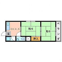 コンフォート・カスガ[3階]の間取り