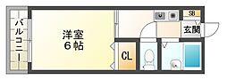 兵庫県神戸市垂水区本多聞2丁目の賃貸アパートの間取り
