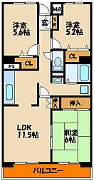 アメニティコート西明石[4階]の間取り