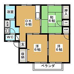 アメニティゾーン沖野[1階]の間取り