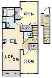 フルール・ド・スリジェ B棟[2階]の間取り