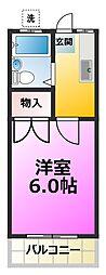 ハイコーポヨシノNo.2[1階]の間取り