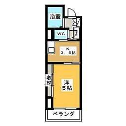 ロイヤルマンション中田[2階]の間取り