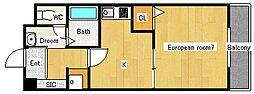 メゾンセリジェ[1階]の間取り