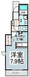 長野県長野市大字安茂里差出の賃貸アパートの間取り