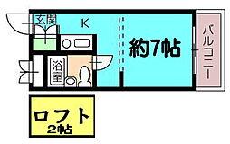 アーバン松島[403号室]の間取り