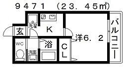 ARATA松原天美東(アラタ松原天美東)[203号室号室]の間取り