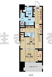JR山手線 浜松町駅 徒歩8分の賃貸マンション 6階1LDKの間取り