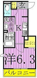 (仮)明原D-roomTV明原3丁目[302号室]の間取り