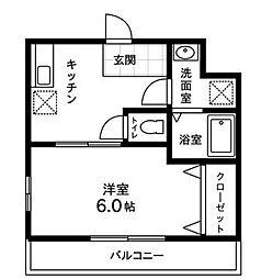 埼玉県さいたま市大宮区大成町2丁目の賃貸マンションの間取り