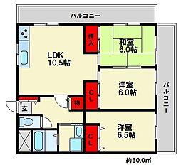 CASA TAKATA[3階]の間取り