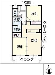 グリーンコート[1階]の間取り