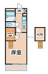 大阪府東大阪市菱江2丁目の賃貸マンションの間取り