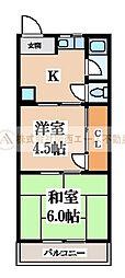 上野芝コーポ[1階]の間取り