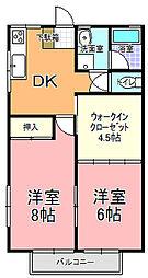 グリーンハウス永田[103号室]の間取り
