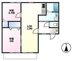 ルマシャンテ[2階]の間取り